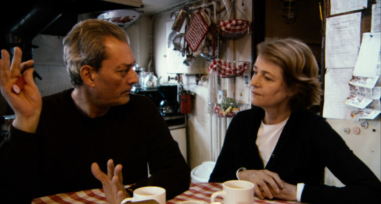 Paul Auster and Charlotte Rampling in a scene from Angelina Maccarone's documentary CHARLOTTE RAMPLING: THE LOOK.