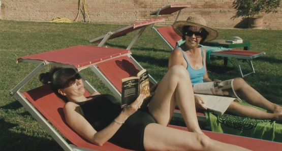 Kathryn Worth as Anna and Mary Roscoe as Verena in UNRELATED, a film by Joanna Hogg.