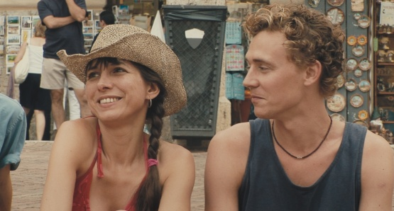 Kathryn Worth as Anna and Tom Hiddleston as Oakley in UNRELATED, a film by Joanna Hogg.