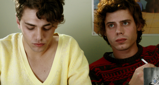Xavier Dolan as Hubert and Francois Arnaud as Antonin in I KILLED MY MOTHER.